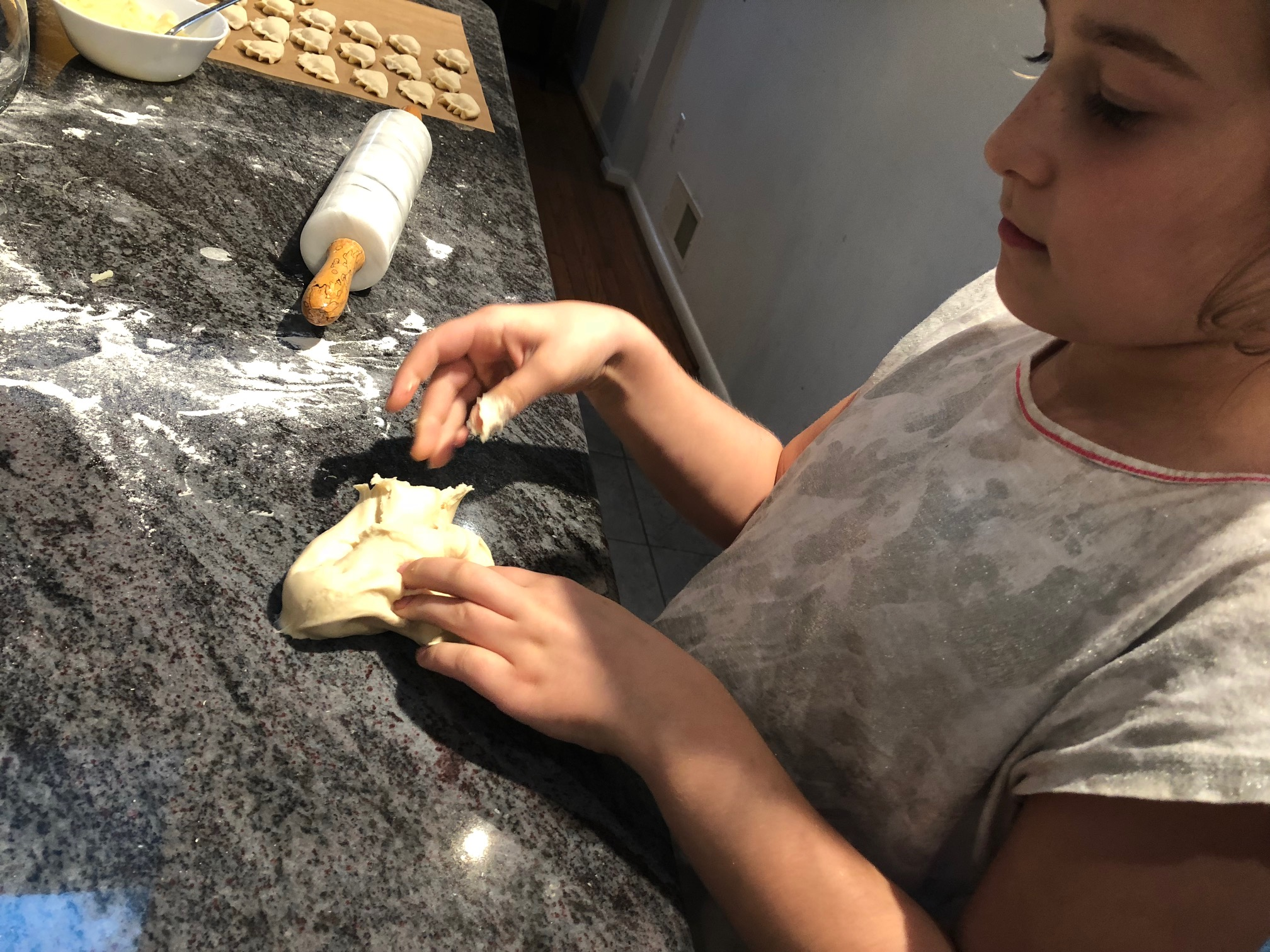 Kids can make pierogi