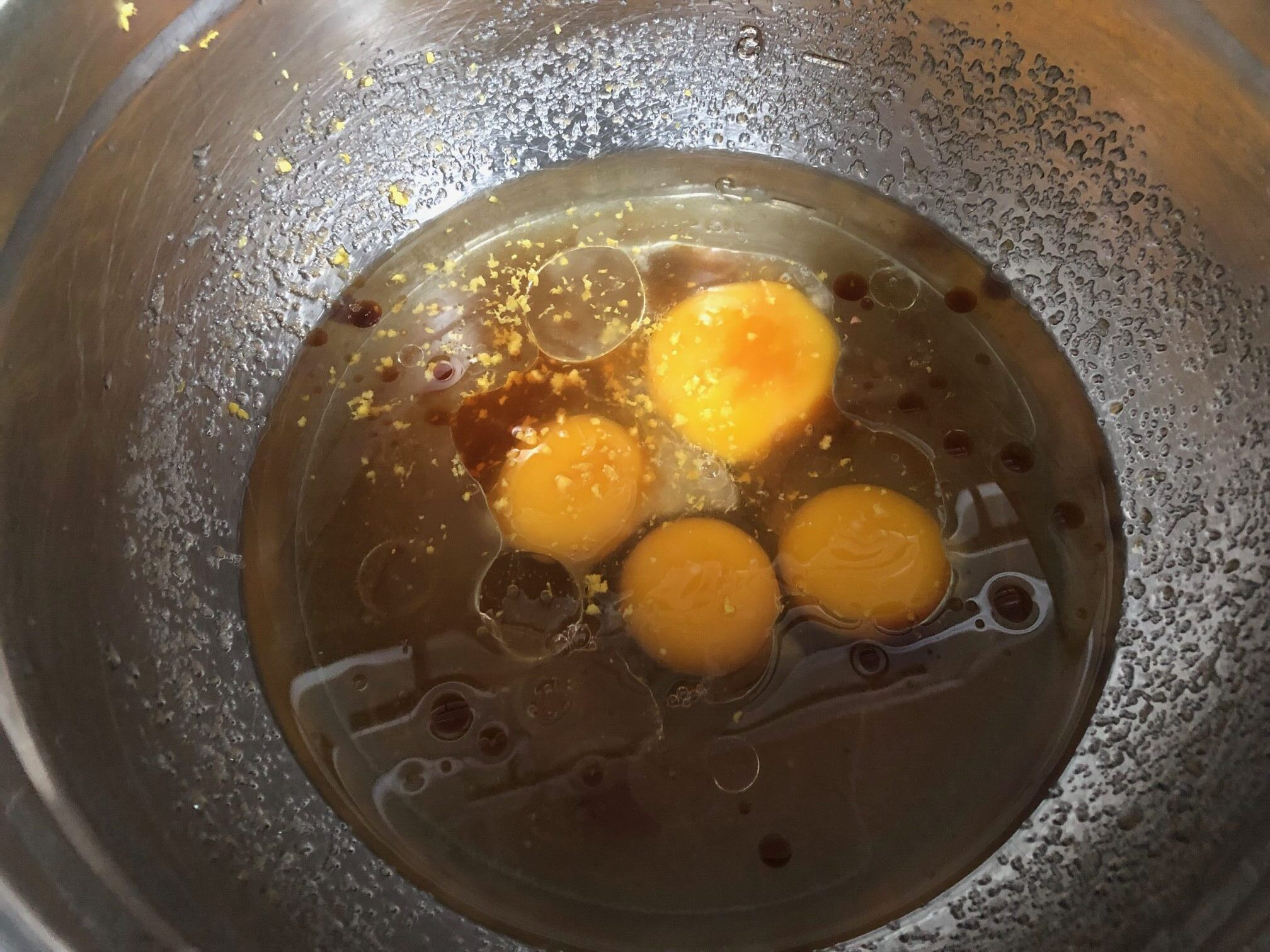 eggs and oil