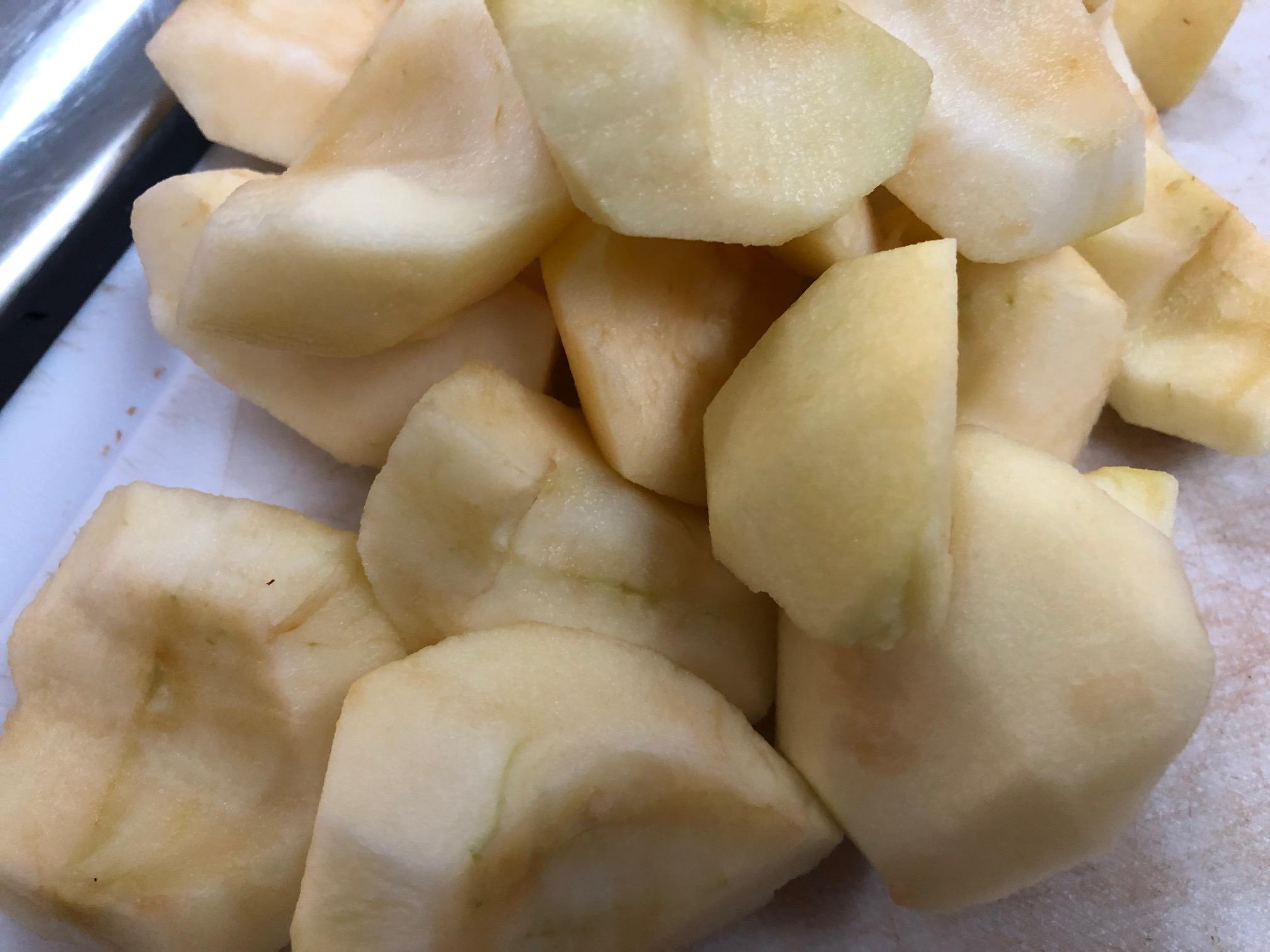 pealed apples