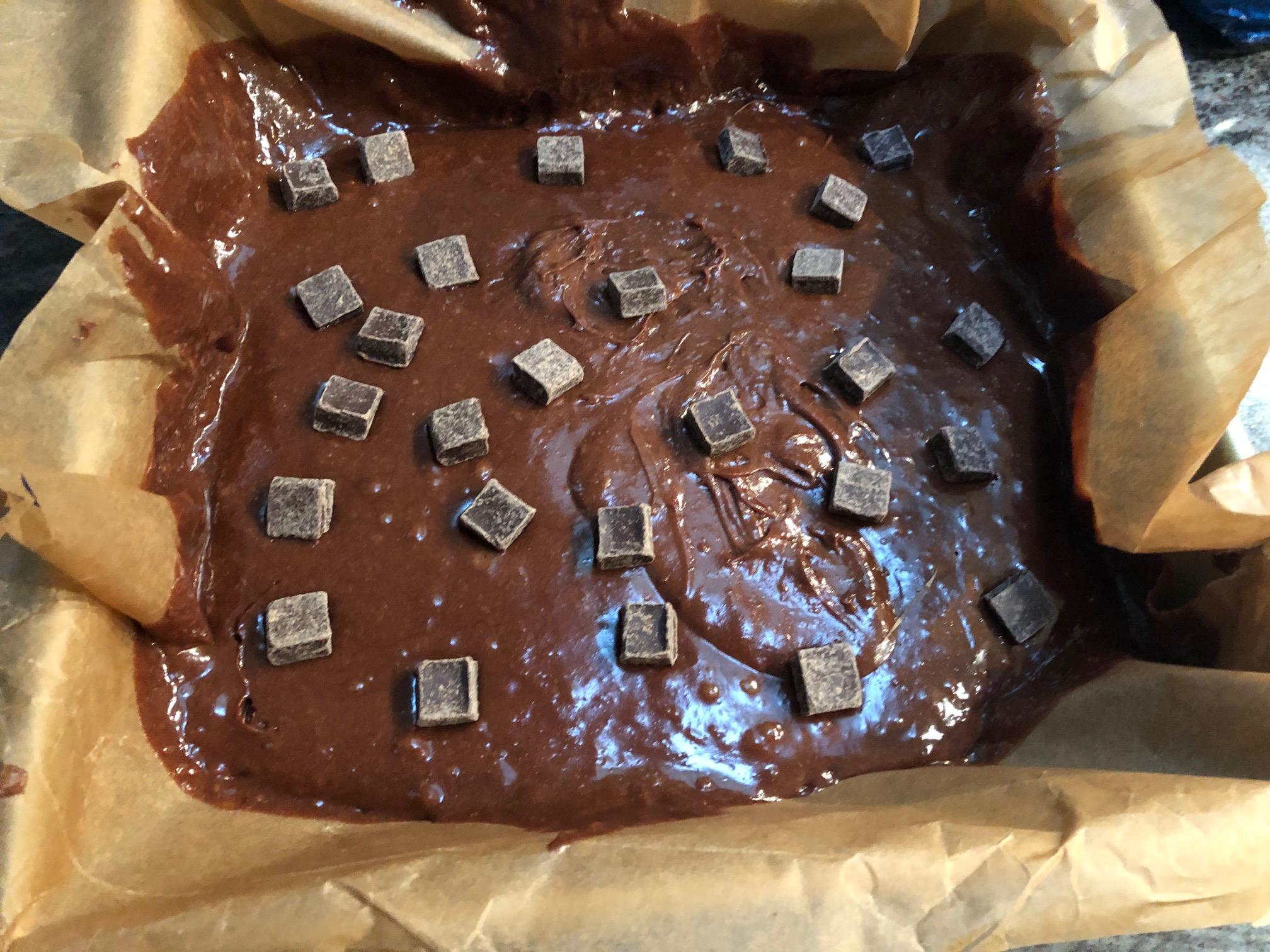 brownie in a pan