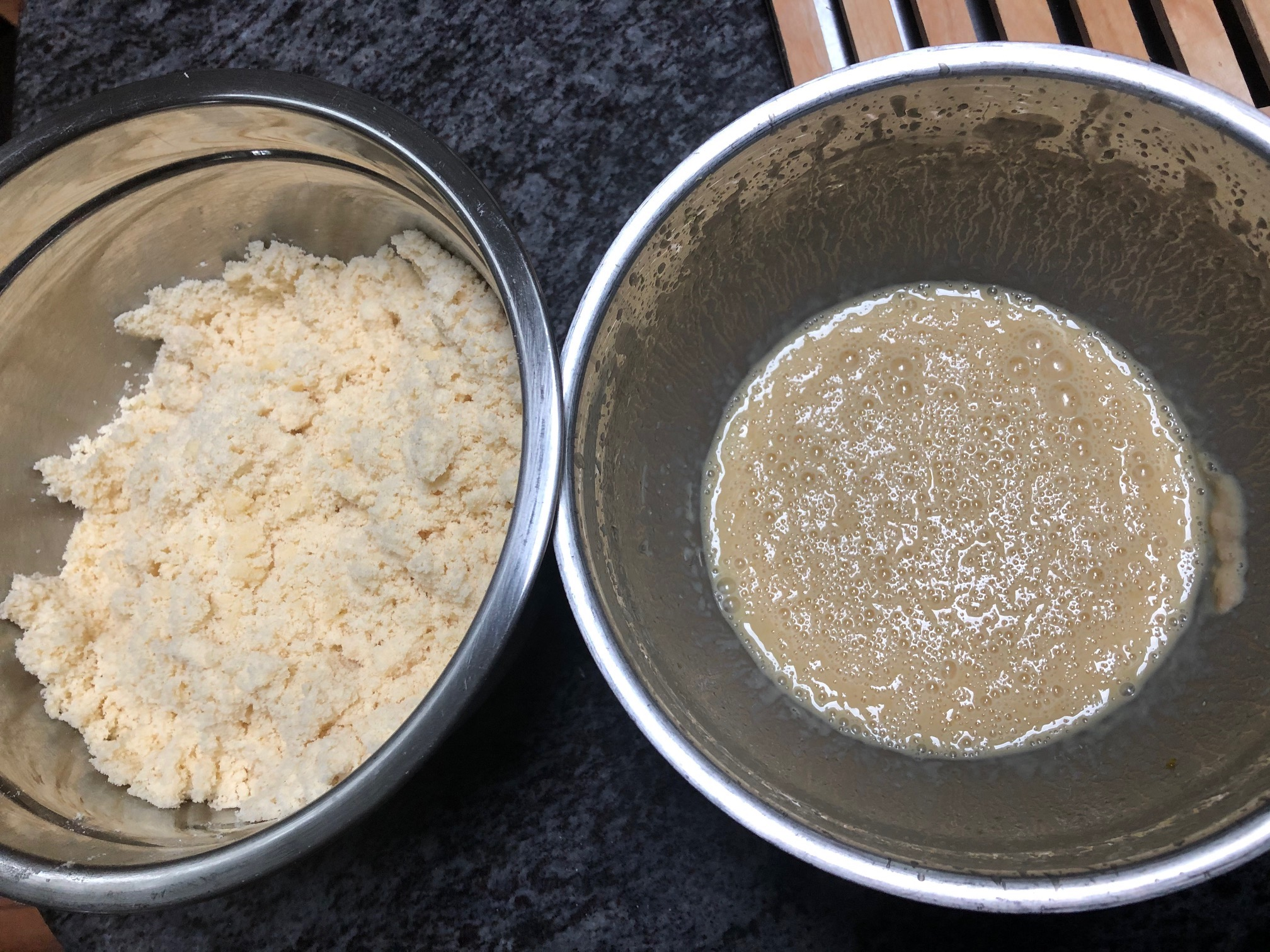 dry and wet ingredients