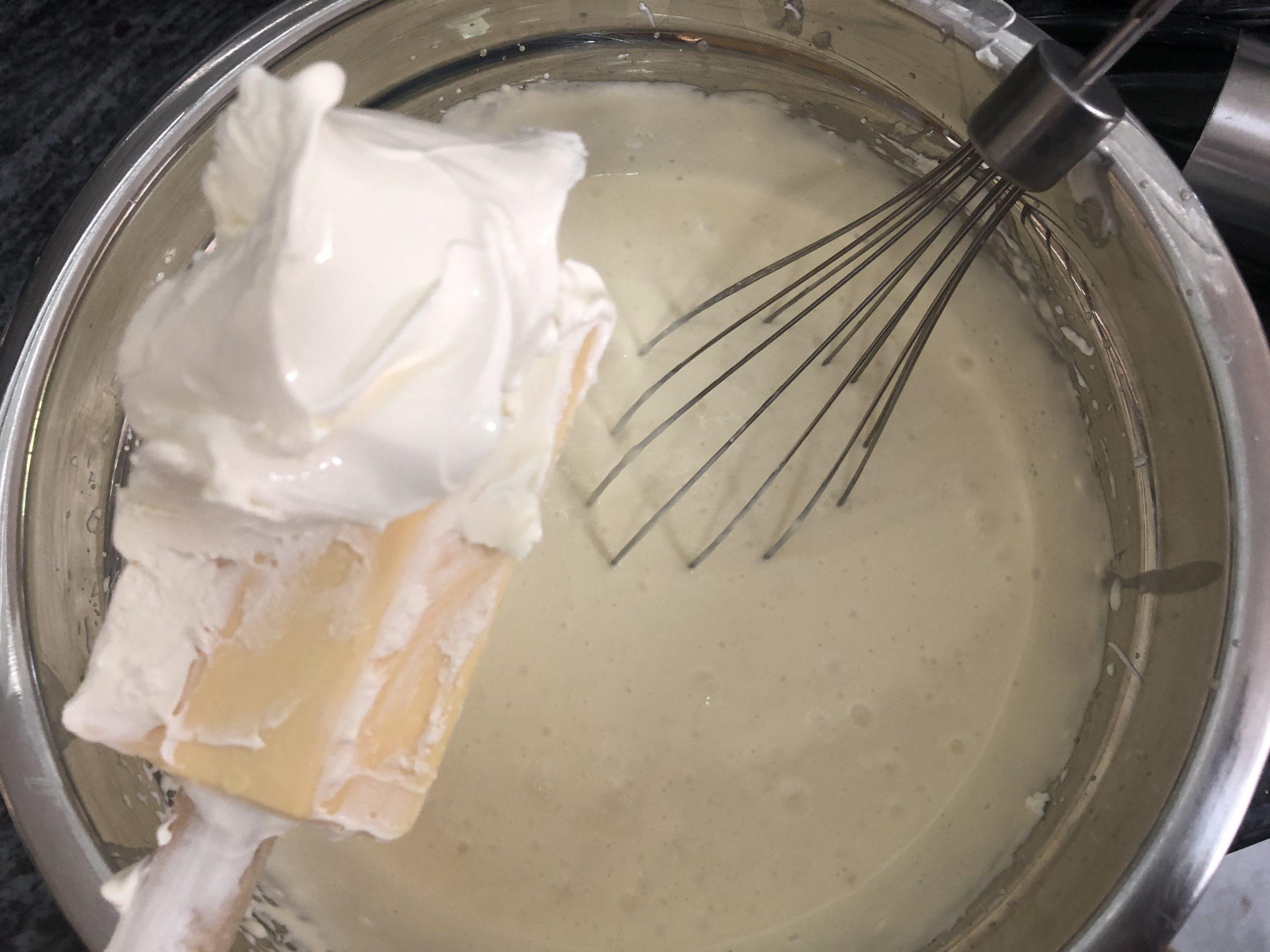 Adding mascarpone