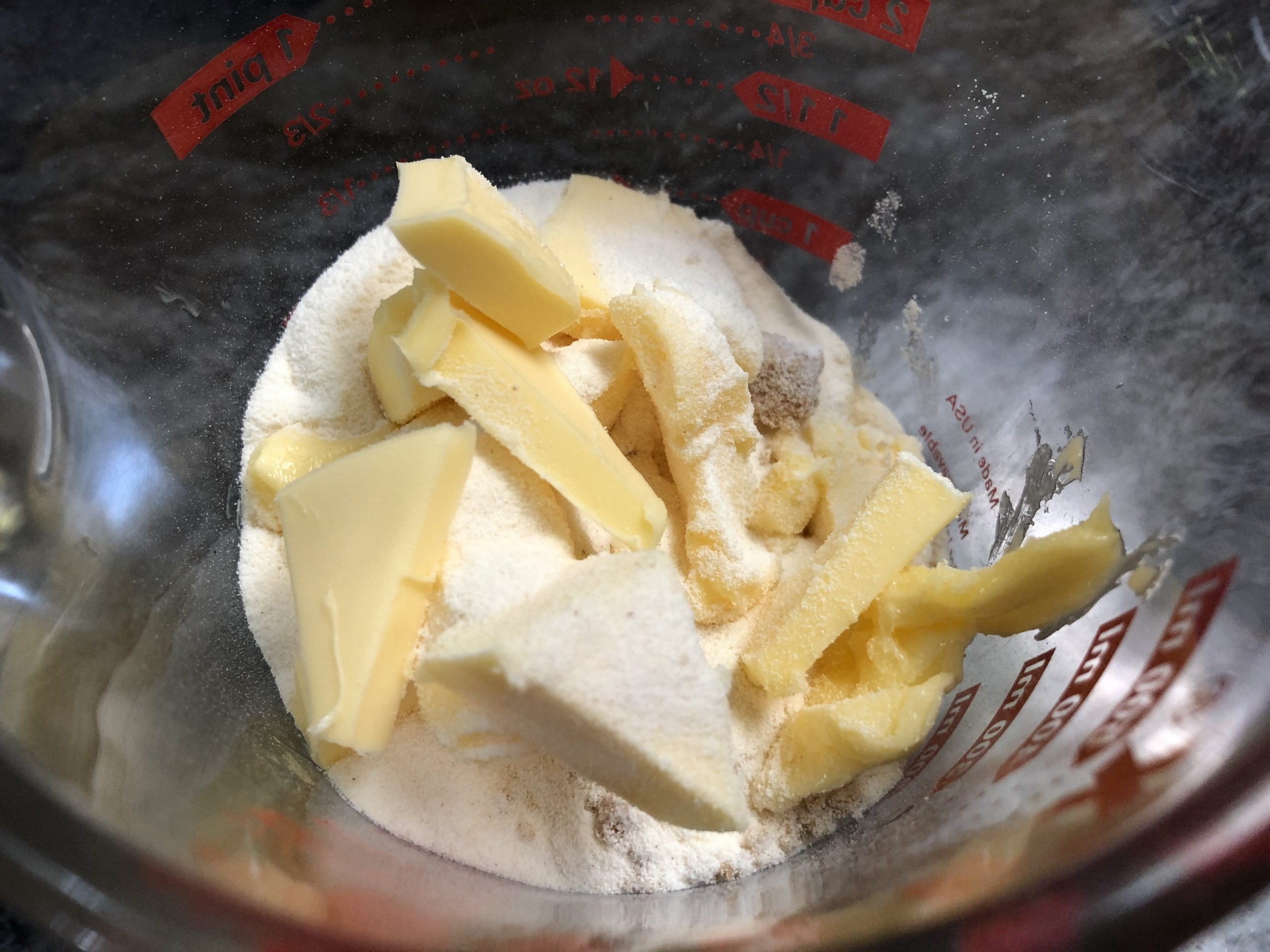 butter flour and sugar