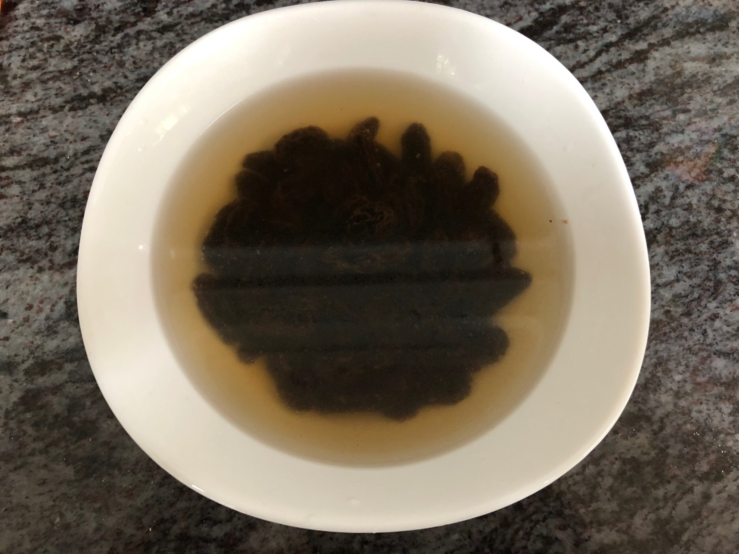 soaking raisins