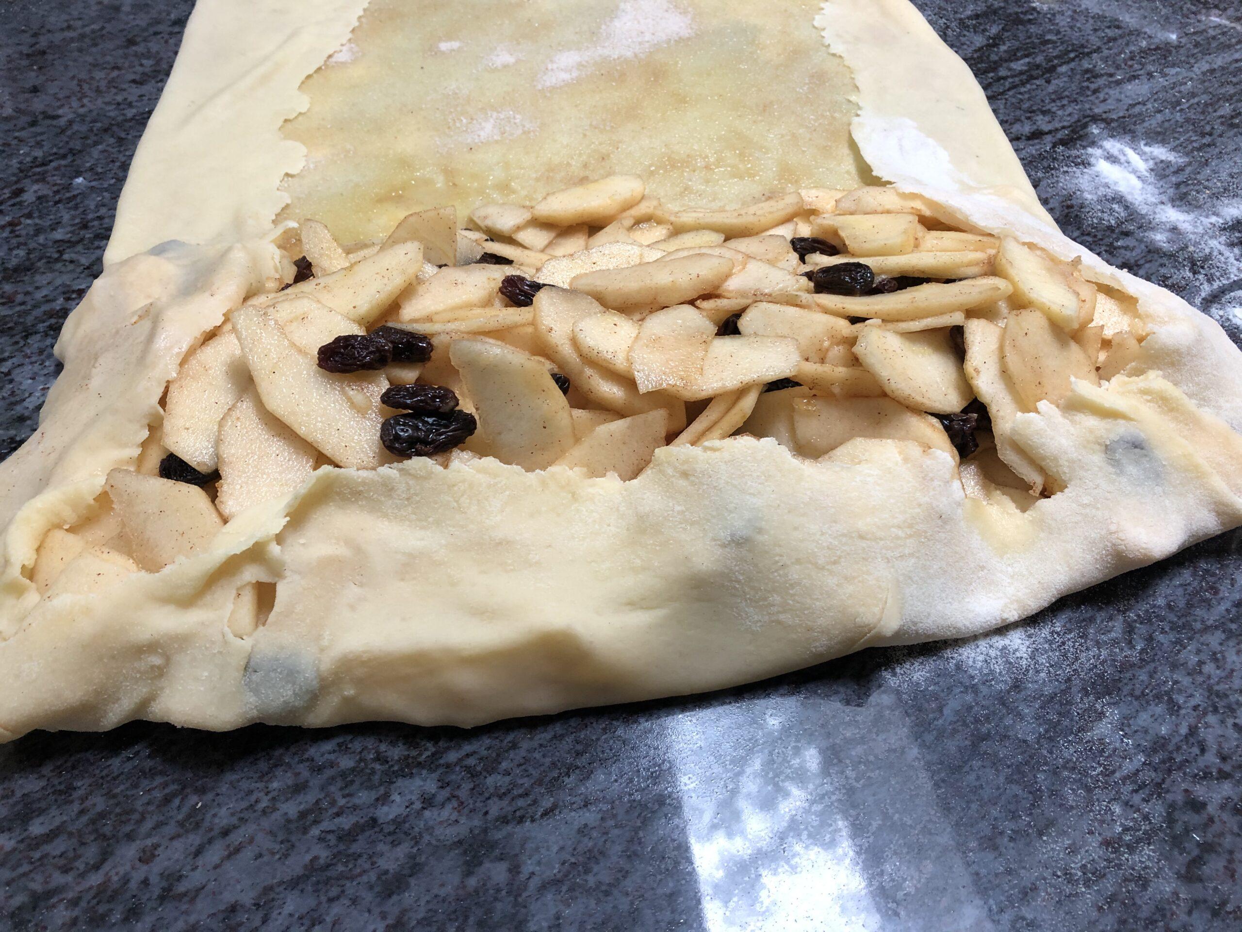 wrap the dough edges