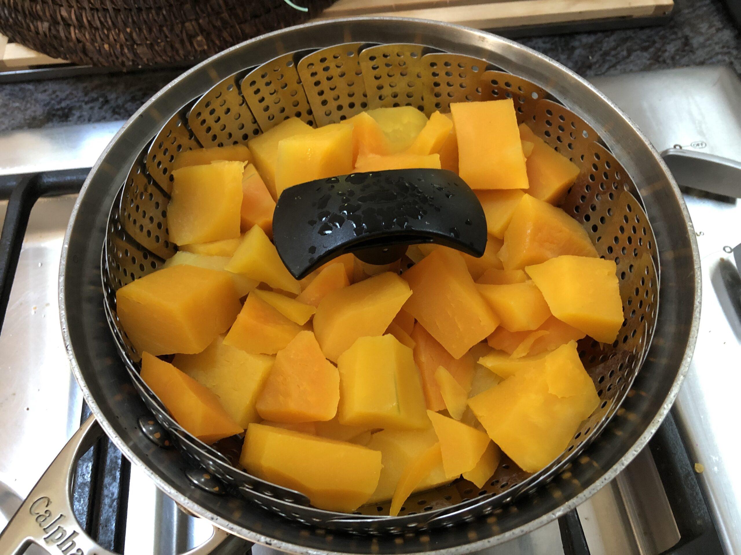 steaming pumpkin