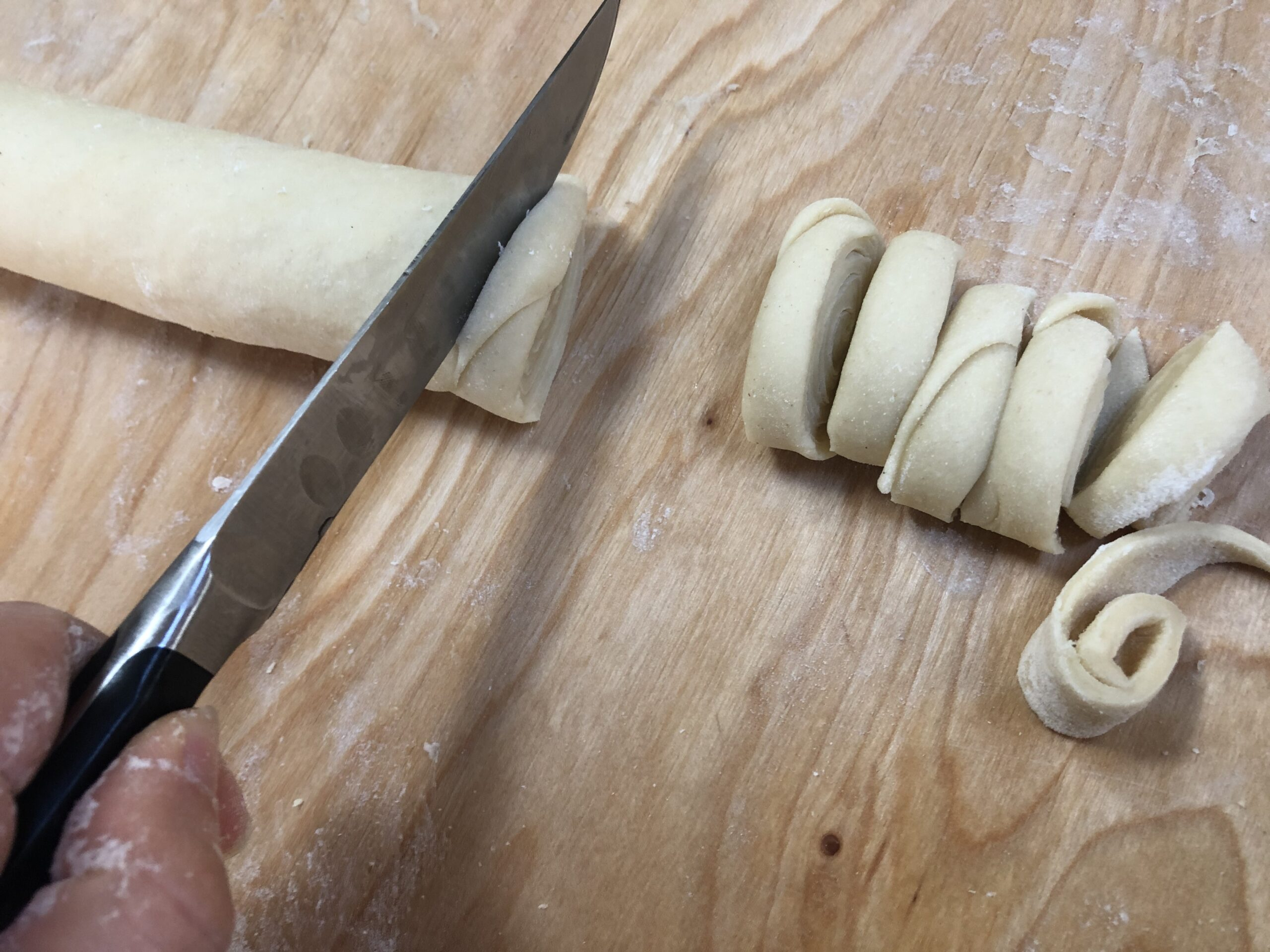 cut the dough